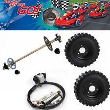 "4.10-6 6"" Go Kart Rear Axle +Brake Kit Hub Complete Wheels Tyre Off-Road Go Cart"