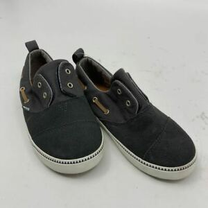 New Toms boys Sz 11 gray laceless slip on sneakers shoes tolder N520