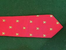 Vintage Mens Silk Tie - Made by hand - 100% silk
