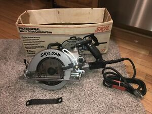 """Vintage SKILSAW WORM DRIVE CIRCULAR SAW. MODEL 77 SUPER DUTY 7-1/4"""" Used Once"""