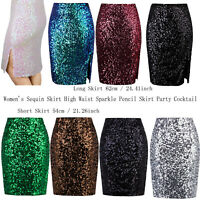 High Waist Bodycon Skirt Zipped Sequin Skirt Hip Skirt Short Pencil Skirt Dress