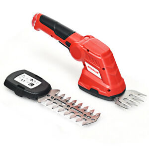 3.6V 2-in-1 Cordless Grass Shear Cutter Shrub Trimmer w/Rechargeable Battery