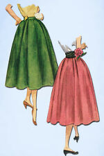 1950s Vintage Simplicity Sewing Pattern 4253 Uncut Easy Misses Skirt Size 24 W
