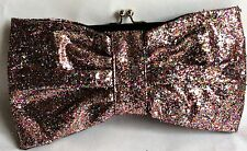 ACCESSORIZE BAG – PINK GLITTER – BOW BAG – PARTY/ SPECIAL OCCASION