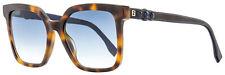 Fendi Square Sunglasses FF0269S 08608 Havana/Blue 54mm 269