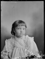 """Antique 1900s 1910s Glass Plate Negative Photo Young Girl Child 8.5"""" x 6.5"""""""