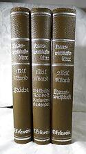 Hauswirtschaftslehre der Neuzeit von Eugenie Erlewein 3 Bände um 1940