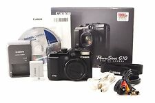 Canon Power Shot G10 14.7MP Digital Camera Black W/BOX [Excellent] from JAPAN