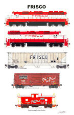 "Frisco 11""x17"" Railroad Poster Andy Fletcher signed"