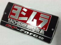MOTOCROSS EXHAUST YOSHIMURA SILVER ALUMINIUM METAL PLATE DECAL EMBLEM MUFFLER #1