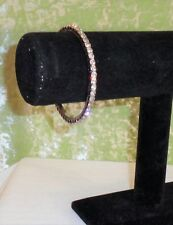 BRACELET SILVER WITH CLEAR RHINESTONES