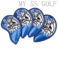4pcs Golf Skull Wedge Cover for Golf Wedges 48 52 56 60 for Vokey SM6 SM5 BV