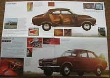 FORD ESCORT Mk1 BROCHURE  early poster GT super  RS 4