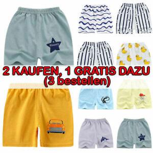 Kinder Jungen Shorts Sommerhose Elastische Taille Kurze Hosen Urlaub Strandhose