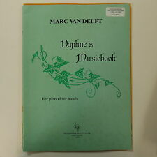 piano 4 hands duet MARC VAN DELFT daphne`s musicbook