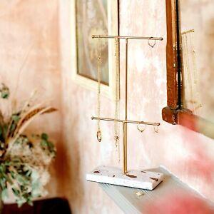 Double Terrazzo Gold Jewellery Stand New Beautiful Gift Display