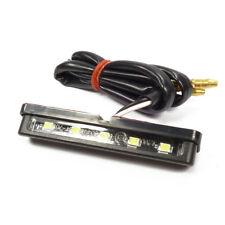 LED Motorrad Kennzeichenbeleuchtung schwarz mit Klebestreifen Kennzeichenleuchte