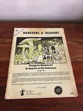Dungeons & Dragons Module B1 In Search of the Unknown 1st edition 1979 Anglais