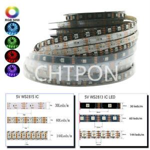WS2813 WS2815 DC5/12V LED strip Dual-Signal 5050 RGB Individual Addressable 5M
