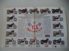 advertising Pubblicità 1990 YAMAHA XT 600 E/DT 125/TDR/XJ/XTZ 660/750/FZR/FJ