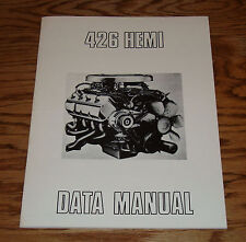 1964 Dodge 426 Hemi Data Manual 64