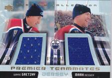 03-04 UD Premier Wayne Gretzky Mark Messier /100 Jersey Teammates Oilers 2003