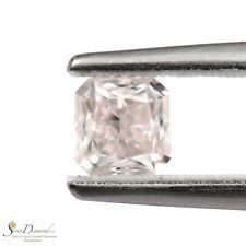 Faint Pinkish Brown Natural Color 0.70 ct Loose Diamond Radiant cut GIA cert
