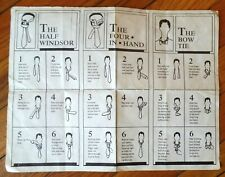 Vintage Half Windsor / Four In Hand / Bow Tie Instructions