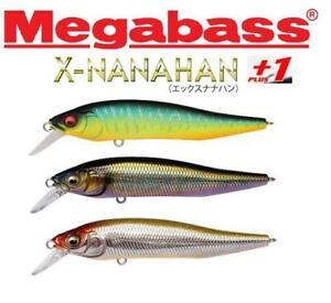 Megabass X- Nanahan+1 Jerkbait 75mm 1/4oz Slow Floating Dives2.4m (Select Color)
