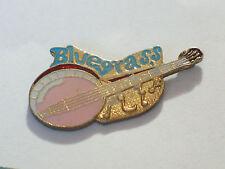 Bluegrass Banjo Pin  Lapel Pin  (Pink )