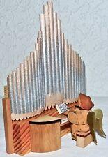 Alte, Original Schumann Orgel mit Engel / handgeschnitzt u. bemalt