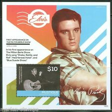 MUSTIQUE  2014 ELVIS PRESLEY 1st APPEARANCE ON ED SULLIVAN SHOW S/S  MINT NH
