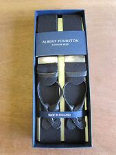 Albert THURSTON BOXCLOTH CUERO END TIRANTES Talla De Calidad Superior Negro