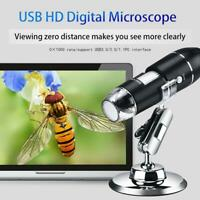 8LED 1000X/1600X Electronic Digital Microscope Handheld USB Magnifier Endoscope