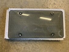 Set Of Tinted Smoke License Plate Tag Frame Cover Shield Protector