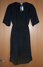 H&M Sz 6 Black Wrap Dress BNWT Rrp £34.99