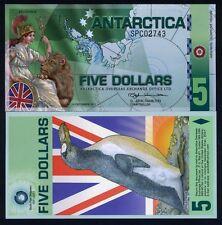Antarctica, $5, Polymer, 2011, NEW, UNC SPC Britannia