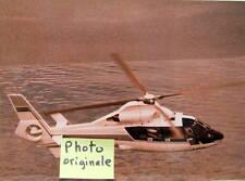 HELICOPTER SA 365 N DAUPHIN 2 AEROSPATIALE PHOTO TEXTE AU DOS ANGLAIS ALLEMAND