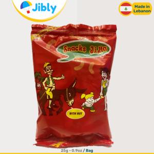 🇱🇧 Lebanese Jiha Peanuts Puffs Chips   Snacks and Sweets   25G - 0.9oz Bags