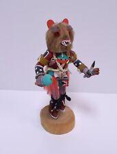 "Vintage Hopi Kachina Doll Signed ""Merrill Yowytewa"" Native American Kweo Wolf 7"""