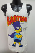 THE SIMPSONS MEDIUM SHIRT TANK TOP MUSCLE PRINTED ADULT VINTAGE RETRO BARTMAN