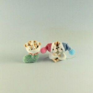 OOAK~Mice~Christmas Stocking~Mini~Baby Toy~Artist Doll~Dollhouse~Cheryl Brown