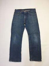 """Herren Levi 751 """"Straight Fit"""" Jeans-W33 L34-Dunkelblau Waschung-super Zustand"""