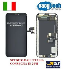 DISPLAY LCD Schermo per iPhone X  10 Compatibile Top Qualita' Touch Screen NERO