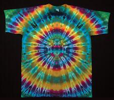 Hippie Tie dye Batik FlowerPower Goa kurzarm T-Shirt handgefärbt Gr.L NEU