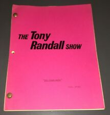 "TONY RANDALL SHOW - ORIG.TV SCRIPT ""DREAM MAKER"" PATCHETT & TARSES YEL. FINAL XF"