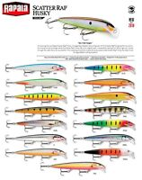 NEW 2018 Rapala Scatter Rap Husky Trolling Fishing Lure 13cm 12g Various Colours