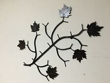 Large wall Branch Coat Rack w/Maple Leaves  rustic camp , lodge decor