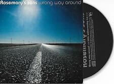 ROSEMARY'S SONS - Wrong way around CD SINGLE 2TR DUTCH CARDSLEEVE 2005