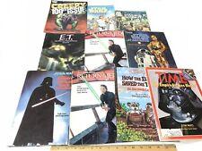 Vintage Star Wars Books Lot TIME 1980 EMPIRE STRIKES BACK & ET & Creepy Book LOT